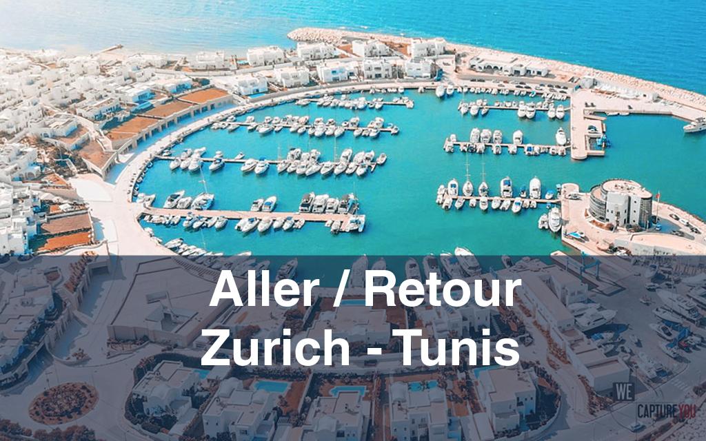 Billet d'avion : Aller / Retour Zurich-Tunis-Zurich